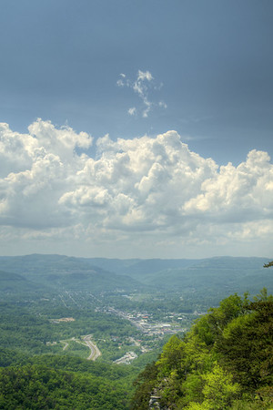A view of Middlesboro from the scenic overlook at Cumberland Gap National Historical Park in Middlesboro, KY on Saturday, May 9, 2015. Copyright 2015 Jason Barnette
