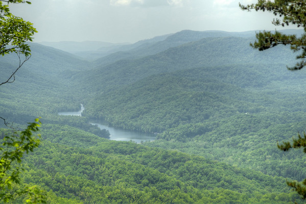 A view of Fern Lake from a path near the top of Cumberland Gap National Historical Park in Middlesboro, KY on Saturday, May 9, 2015. Copyright 2015 Jason Barnette