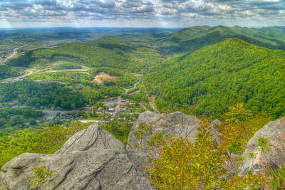 View down from the PInnacle Overlook in Cumberland Gap National Historical Park in Middlesboro, KY on Tuesday, April 24, 2012. Copyright 2012 Jason Barnette