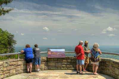 People enjoy the expansive view of Powell's Valley from the scenic overlook at Cumberland Gap National Historical Park in Middlesboro, KY on Saturday, May 9, 2015. Copyright 2015 Jason Barnette