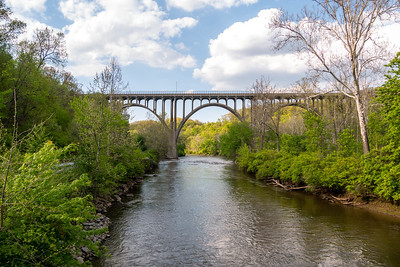 A beautiful old bridge spanning the Cuyahoga river.