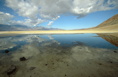 Badwater, lowest point in North America, with an elevation of 282 ft (86 m) below sea level.