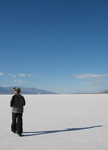 Hiker in Badwater