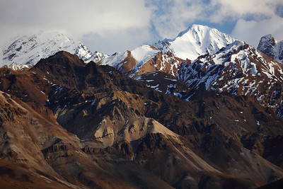 Snowcapped Mountains in Denali National Park