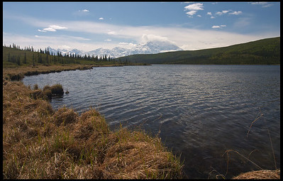 McKinley peaks from Wonder Lake