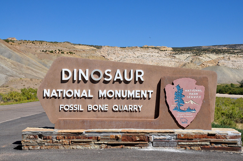 Dinosaur National Monument - Fossil Bone Quarry entrance