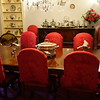 And it's a very red dining room
