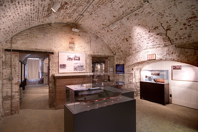 Exhibits at the Casemate Museum at Fort Monroe National Monument in Hampton, VA on Wednesday, August 19, 2015. Copyright 2015 Jason Barnette  After proudly serving 188 years as a coastal fortification, in 2011 Fort Monroe opened as the newest national monument. Today the 325 acre fort is open to the public for exporation including the Casement Museum, streets, and a few buildings.