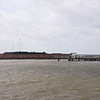 Fort Sumter and a loading dock.