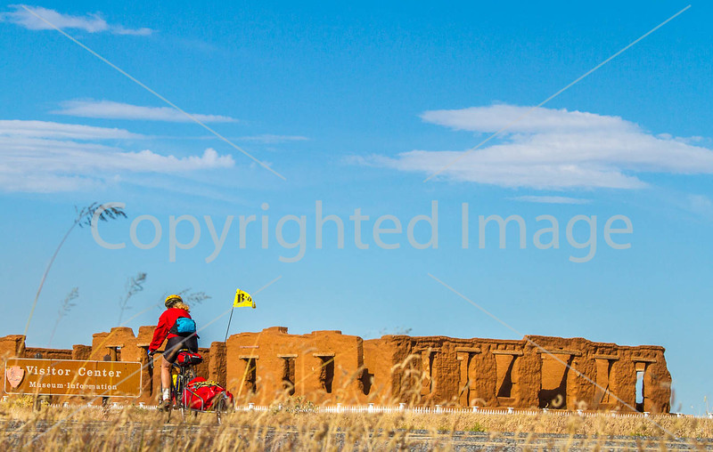 Cyclist at Fort Union National Monument, NM - D4-C1-0297 - 72 ppi