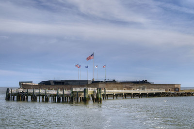 A view of Fort Sumter at the Fort Sumter National Monument in Charleston, SC on Wednesday, January 15, 2014. Copyright 2014 Jason Barnette  Construction began on Fort Sumter in 1829, but was still unfinished in 1861 when the Civil War began. On April 12, 1861 Confederate batteries opened fire on Fort Sumter, marking the first shots fired during the Civil War. Today Fort Sumter is part of the Fort Sumter National Monument which includes the fort, the Fort Sumter Education Center, and Fort Moultrie.