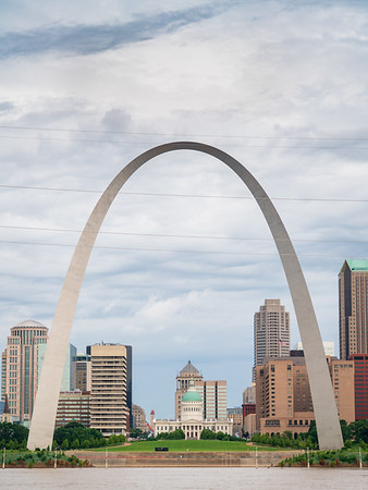 Gateway Arch National Park And the St. Louis Skyline
