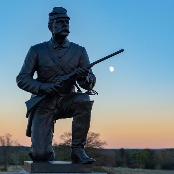 Moonrise over the 1st Pennsylvania Cavalry