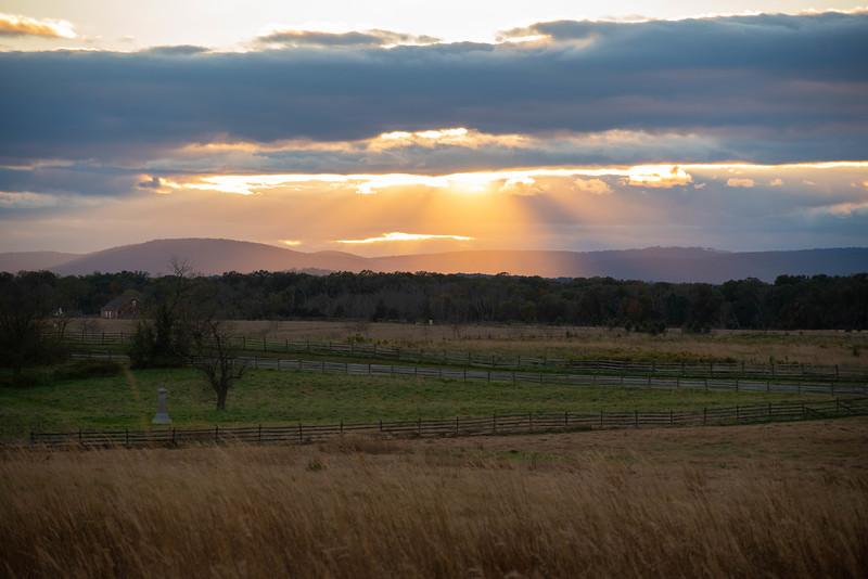 Light on Seminary Ridge