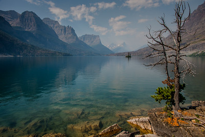 St. Mary Lake in Glacier National Park, August 2017.