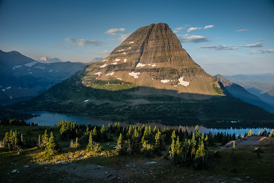 Bearhat Mountain seen from Hidden Lake Overlook in Glacier National Park, August 2017.