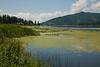 Lake on the scenic drive around Coeur d'Alene Idaho