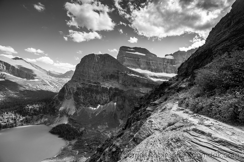 Glacier National Park Black and White