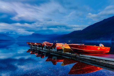 Mixed Light; Apgar Village & Lake McDonald, Glacier National Park