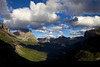 Clouds hang above the Reynolds creek valley in Glacier National Park.