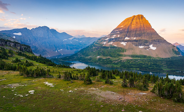 Hidden Lake and Bearhat Mountain in Glacier National Park