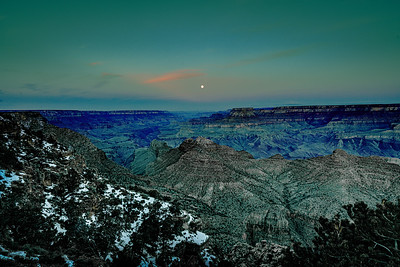 Moonset Over Canyon