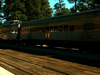 One way of getting to the Grand Canyon is by rail.  You can catch the train in Williams, AZ and arrive in the Grand Canyon Village area where there are hotels and transportation to get you around the park.