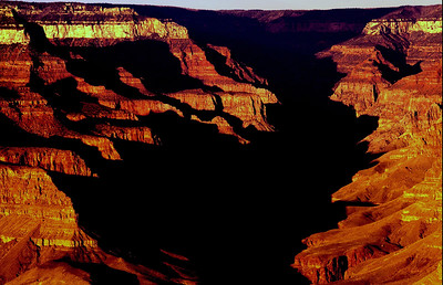 Bright Angel Canyon near sunset