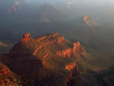 Sunrise At The Grand Canyon At Bright Angel