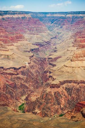 Center View of the Colorado River Grand Canyon National Park