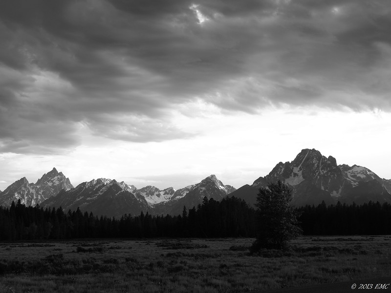 Clouds over the Range (B/W)