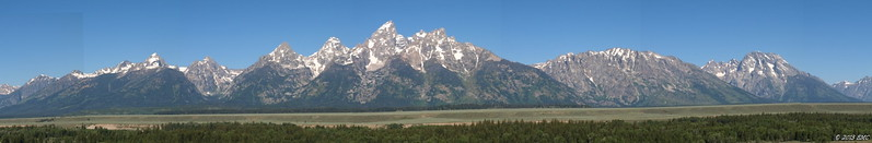 Teton Range over the Snake River