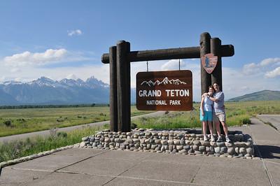 Grand Teton Park sign