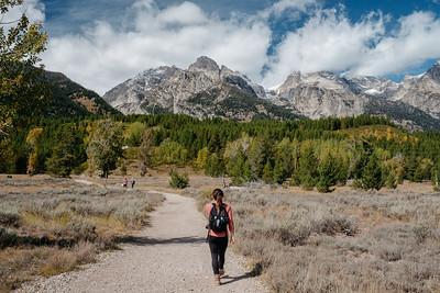 Victoria Walking Towards The Tetons