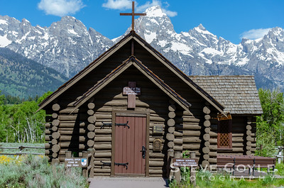 The Chapel of the Transfiguration is a small log chapel in Grand Teton National Park, in the community of Moose. The chapel was sited and built to frame a view of the Cathedral Group of peaks in a large window behind the altar. The chapel, which was built in 1925, is owned and operated by St. John's Episcopal Church in Jackson. -wikipedia