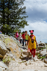 I saw this woman hiking to the top of Inspiration Point in Grand Teton National Park. Luckily I was in the right spot to capture her on the descent. Just proves you don't need hiking gear to hike in the mountains, but I'm not sure the Minnie Mouse ears will be the next fad in hiking gear.