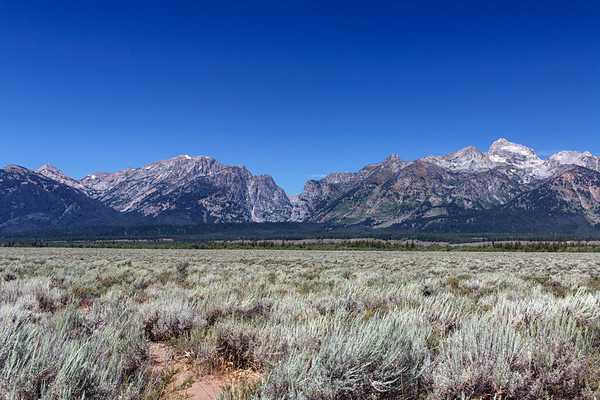 Sagebrush Gives Way To The Mountains