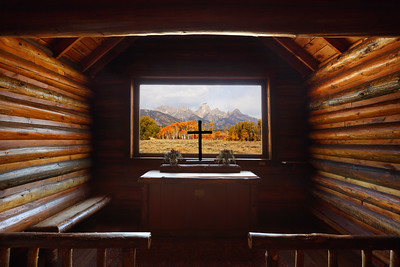 Inside The Chapel of the Transfiguration, Grand Teton National Park