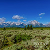 Early morning on the Teton Range. This is the view from the Willow Flats Overlook with Jackson Lake below the Tetons.