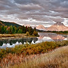 The Tetons' from Oxbow Bend.Oxbow Bend.
