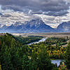 Snake River as it works its way toward the Tetons'.