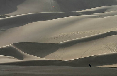 The great dunes and two tourists
