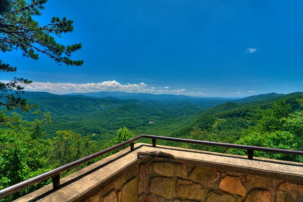Foothills Parkway at Great Smoky Mountains National Park