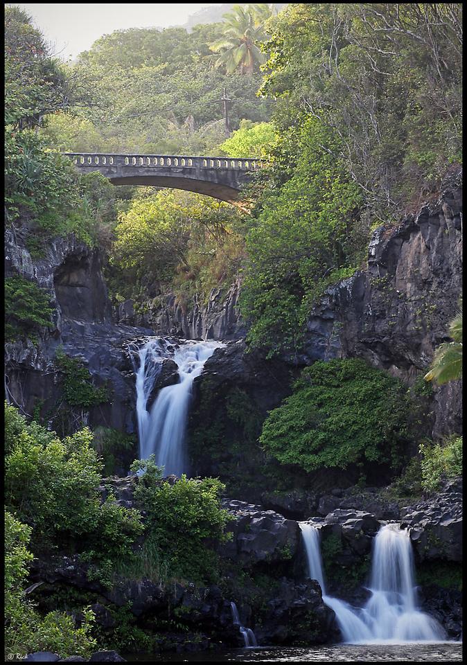 Waterfalls in Ohe o Gorge, Seven Sacred Pools, Haleakala National Park  Maui, Hawaii