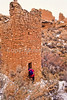 Hiker at Hovenweep National Monument on Utah-Colorado border - 14 - 72 ppi