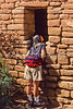 Hiker at Hovenweep National Monument on Utah-Colorado border - 13 - 72 ppi
