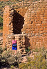 Hiker at Hovenweep National Monument on Utah-Colorado border - 2 - 72 ppi