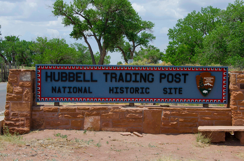 Hubbell Trading Post National Historic Site entrance