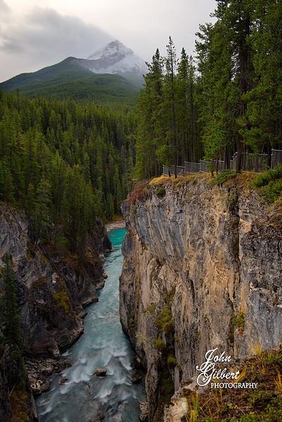 Sunwapta Falls Canyon 10/01/2013: <br /> <br /> Nikon D600, 24-70mm lens @36mm. Aperture f/6.3, Shutter Speed .4 seconds, ISO 100, and -0.67EV.