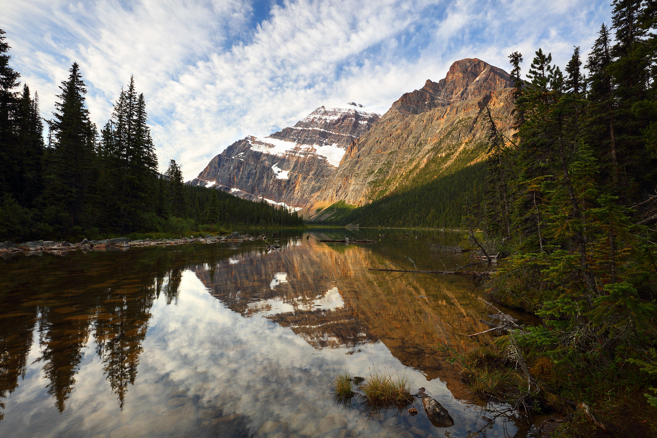 Mt Edith Cavell Reflecting in Cavell Lake